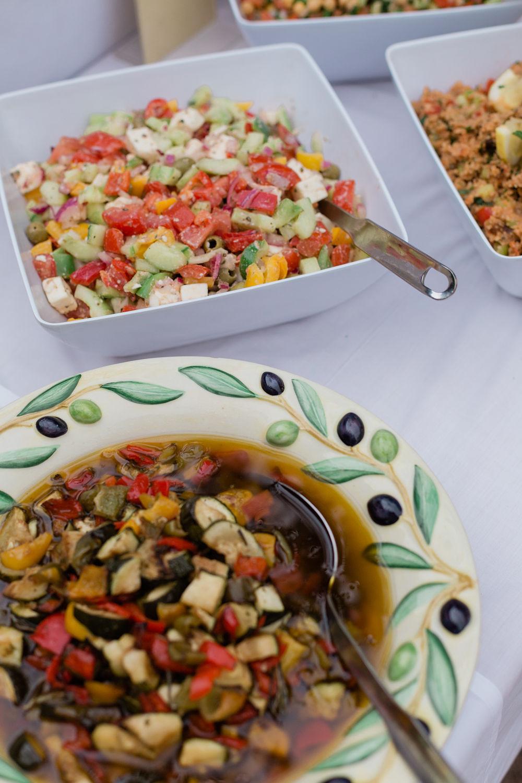 Griechischer Salat, eingelegtes Gemüse
